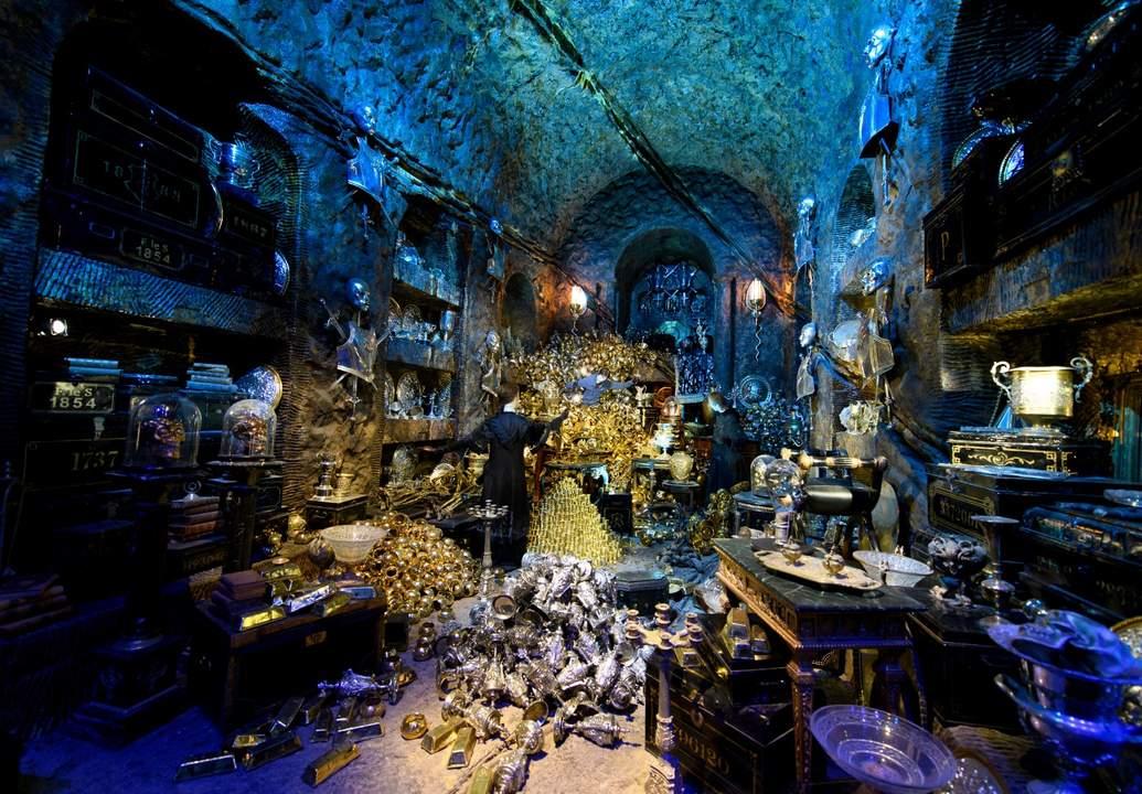 lestrange vault Gringotts wizarding bank Warner Bros. Studio Tour London